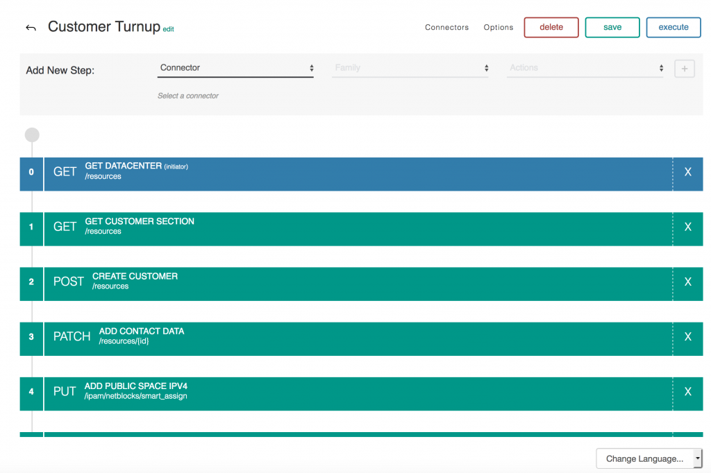 Screenshot: API workflows